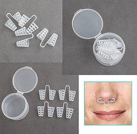 risingmed Soft Anti-Schnarch-Nasenklammer Schnarchen, Anti Schnarchen Gerät Sleep Aid, Schnarchen Stopper, bequem Lösungen Gerät (Bequemer Sleep)