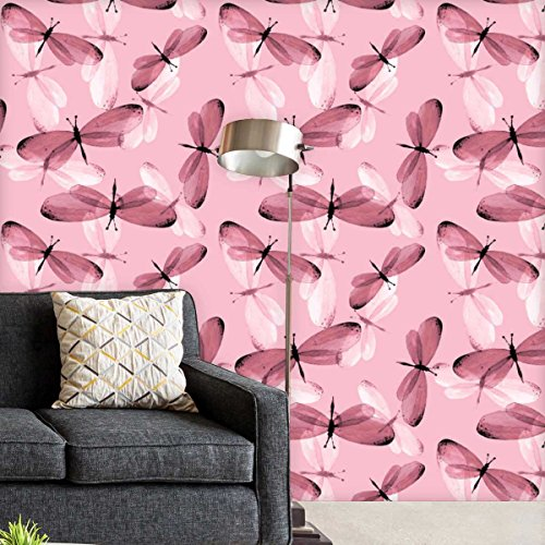 AZ Butterflies 1 Self-Adhesive Peel & Stick PVC Vinyl Wallpaper 40 x 216inch; Area 60sq.ft (Top Butterfly Peeling)