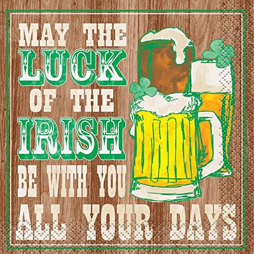 Glück der Iren Saint Patrick 's Day Cocktail Servietten, 16ct