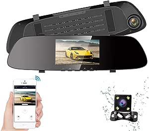 Hqbking Dash Cam Wifi Front Und Heckkamera Hqbking Fhd Elektronik