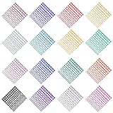 16confezioni strass adesivi, Yucool autoadesivo adesivi in 4dimensioni 16colori per unghie, artigianato, festival, carnevale, trucco Crafts & embellishments-2640pezzi