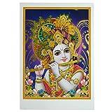 Bild Krishna 50 x 70 cm Gottheit Hinduismus Kunstdruck