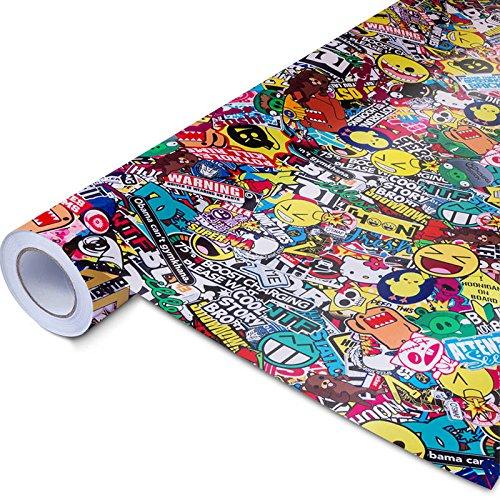 30x150cm Stickerbombfolie Autofolie Stickerbomb Folie Sticker