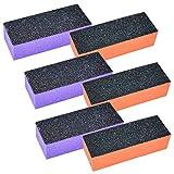 6er-Set Buffer Schleifblock 3-seitig [3x Orange 100/180 + 3x Lila 60/100]