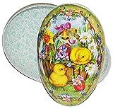 Unbekannt XXL - Füll - Pappei 35 cm groß Osterküken Küken - Osterei / Ei zum befüllen - Deko Pappe Papp Pappeier Dekoei Pappostereier Füllen