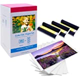 MarkField Papier photo Selphy KP-108IN 3115B001(AA) Color Ink Paper Set Compatible avec Imprimante Canon Selphy CP Series CP1