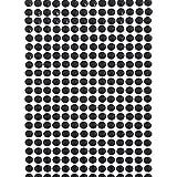 Smartfox 504 Stück Strasssteine Glitzersteine Strass Kristalle Steine Rund, Ø 6 mm, Selbstklebend, aus Acryl, Schwarz