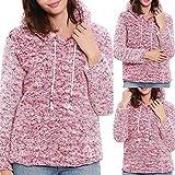 Hanomes Damen pullover, Frauen Winter Langarm Solid Hooded Friesen Sweatshirt Pullover Bluse Top