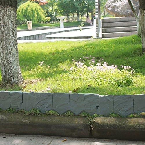 AllRight 10tlg. Beeteinfassung Beetumrandung Rasenkante Mähkante Palisade Garten Beet