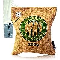 Désodorisant, durable Bambou Charbon actif Purificateur d'air, déshumidificateur avec charbon actif en bambou naturel Sachet de parfum–Absorbe les odeurs & Filtre les polluants et allergènes–Bambou Purificateur d'air pour voiture, chambre, salon, cave, cuisine, WC, Salle de bains, etc–Conforme à la norme libres et 100% biodégradable (Braun)