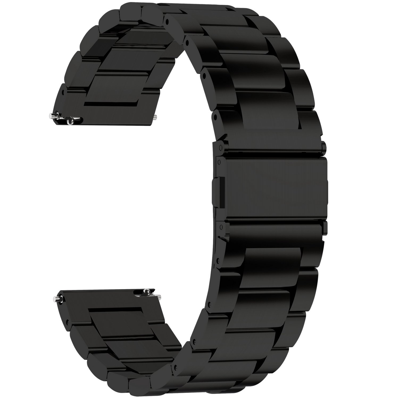 Fullmosa 4 Colores para Correa Metálica de Reloj de Liberación Rápida, Pulsera Reloj de Acero Inoxidable 14mm 16mm 18mm… 1