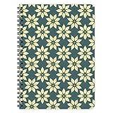 etmamu 375 Notizblock Blumen-Muster A5, 60 Blatt kariert