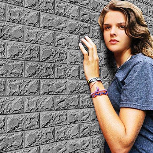 Preisvergleich Produktbild HCFKJ 3D Wandpaneele Steinoptik, Ziegelstein Tapete, Ziegel Tapete, Brick Muster Tapete, Selbstklebend Steinoptik, Brick Pattern Wallpaper für Schlafzimmer Wohnzimmer Schlafzimmer Wohnzimmer , 30*60cm