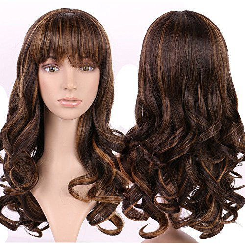 S-noilite Long Curly Full Hair Wigs Costume Party Fancy Daily Dress by (Sexy Halloween Costuems)