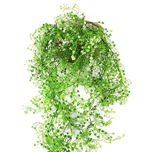 WEWILL Künstliche Blume Vine 23,6FT/Stück Fake Schnur Pflanze für Hause Garten Wand Indoor Outdoor Aufhängen Hängekorb 3.6Ft Grün - Ft Schnur