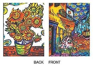 """colorvelvet 32x 26,5x 4cm A4""""Van Gogh Classeur à anneaux (Multicolore)"""