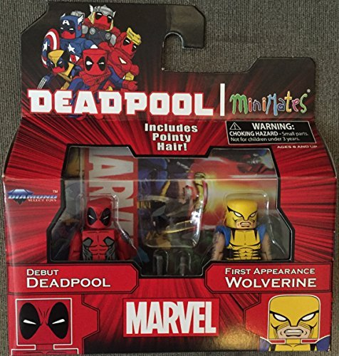 Marvel Minimates Debut Deadpool and First Appearance Wolverine Exclusive Figure Pack by Deadpool (Spielzeug Deadpool Marvels Lego)
