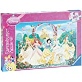 Ravensburger 13926 Principesse danzanti- Puzzle con brillantini da 100 pezzi (XXL)