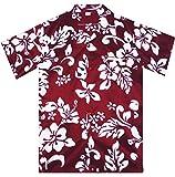 Funky Hawaiihemd, Hibiskus, rot, 5XL