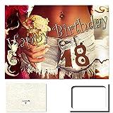 DigitalOase Glückwunschkarte 18. Geburtstag Geburtstagskarte Grußkarte Format DIN A4 A3 Klappkarte PanoramaUmschlag