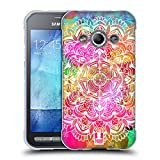 Head Case Designs Wasserfarben Mandala Doodle Soft Gel Hülle für Samsung Galaxy Xcover 3