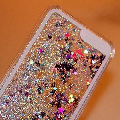 iPhone 6s Plus Etui Coque PC, Caselover Glitter Liquide Hard Case Couverture pour Apple iPhone 6 Plus / 6s Plus (5.5 pouces) Mode Dynamic Etoiles Paillettes Sable Housse Protection Dur Rigide Strass M Gris