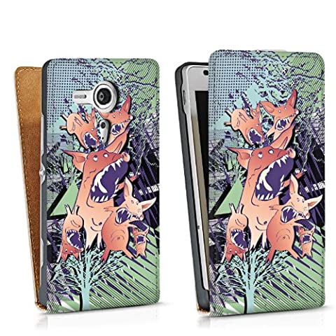 Sony Xperia SP Sacoche Housse de Protection Walletcase Bookstyle Cochons effrayants Cochon Cochons