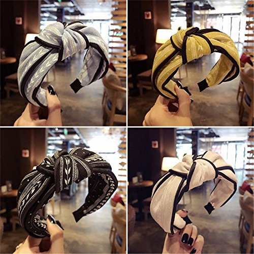 Hotsellhome New Fashion Women's Yoga Elastic Cute Hairband Turban Knotted Hair Band Bandanas Headband for Ladies