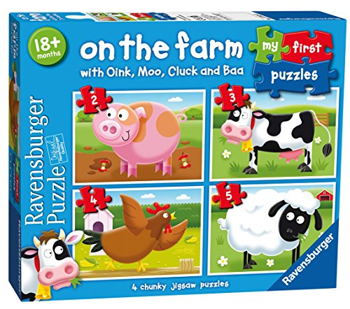 Ravensburger 7302 My First Puzzle On the Farm Jigsaw Puzzles - 2, 3, 4 and 5 Pieces