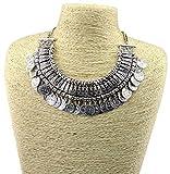 Sansar India Designer Bohemia Gypsy Vintage Coin Necklace for Girls & Women