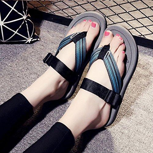 Sommer sandalen, Frauen / Wohnungen Sommer Komfort Lässig Flache Ferse Flip-Flops für Strand Farbe / Größe optional ( Farbe : 1002 , größe : EU39/UK6.5/CN40 ) 1003
