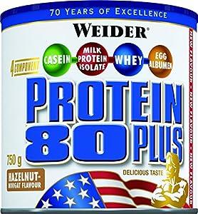 Weider 80 Plus Protein, Haselnuss-Nougat (1 x 750 g)