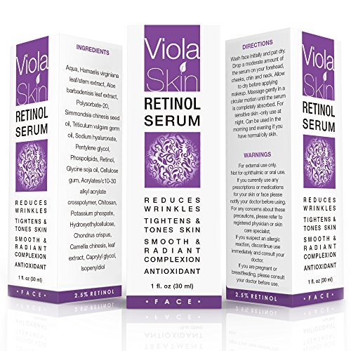 PREMIUM Retinol Face Serum with Hyaluronic Acid & Vitamin E, Anti Aging Retinol Serum for Wrinkles, Fine Lines & Sensitive Skin, Hydrate & Brighten your look! 100% Satisfaction