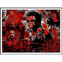 imagenation Fight Club Clippings'Rouge - 60 cm X 80 cm) imprimée sur Repositional auto-adhésive-Poster-Papier peint