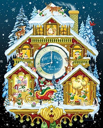 Vermont christmas company natale orologio a cucù puzzle 1000 pezzi