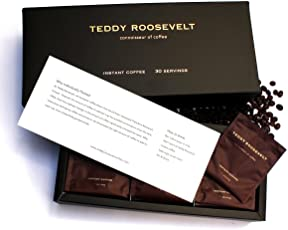 Teddy Roosevelt Luxury Instant Coffee, 30 Servings, 75g