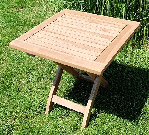 AS-S TEAK Klapptisch Holztisch Gartentisch Garten Tisch Beistelltisch 45x45cm Holz PICNIC von AS-S