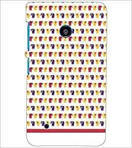 PrintDhaba Elephant pattern D-1587 Back Case Cover for NOKIA LUMIA 530 (Multi-Coloured)