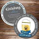 75 Echte Bierdeckel Einladung Geburtstag Motiv Bierglas Prost Bieruntersetzer Karte originelle individuelle Einladungskarte