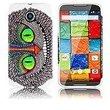 thematys Motorola Moto X 2. Generation Silikon Schutz-Hülle Grinse Katze weiche Tasche Cover Case Bumper Etui Flip Smartphone Handy Backcover