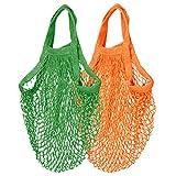 Sharplace 2 Stück Netztasche Baumwollschnur Einkaufsnetz Einkaufstaschen Tasche Aufbewahrungstasche