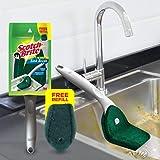 Scotch-Brite Plastic Kitchen Sink Brush (Silver)