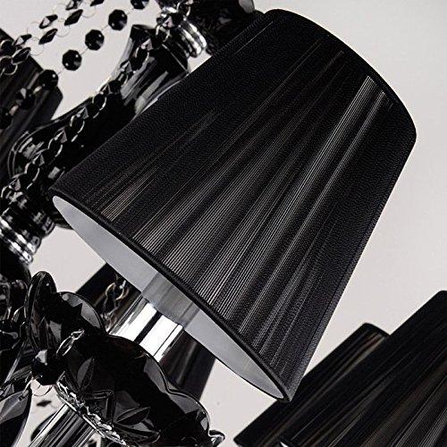 Aiwen Kerzen Lampenfassungen Schwarz Kristall-Kronleuchter ( lichtquelle nicht enthalten ) 6 Lampenfassungen - 4