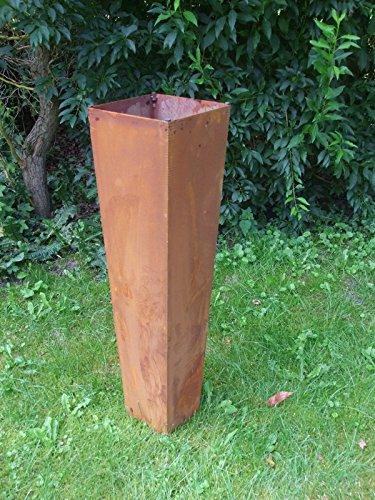 floristikvergleich.de Dekorative Gartensäule, Dekosäule, Eisensäule, Rost, Pflanzsäule,100cm