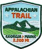 2 x Appalachian Trail Abzeichen gestickt 51 x 60 mm / Georgia Maine Aufnäher Aufbügler Bügelbild Sticker Patch für Kleidung Rucksack / Outdoor USA Amerika Wandern Trekking Reiseführer Wanderführer