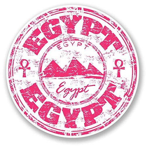 Preisvergleich Produktbild 2x Pink Ägypten Vinyl Aufkleber Aufkleber Laptop Reise Gepäck Auto Ipad Schild Fun # 5777 - 10cm/100mm Wide
