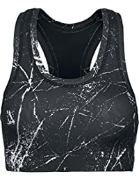 Urban Classics Ladies Sprinkled Sport Bra Sous-vêtements Femme noir/blanc L