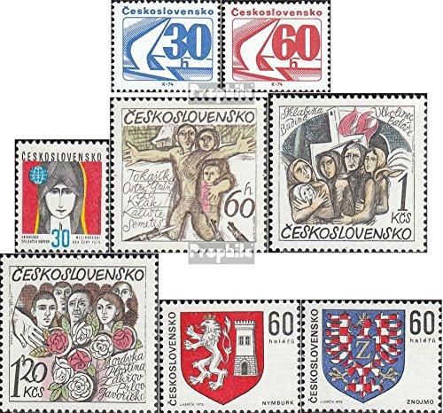 Prophila Collection Tschechoslowakei 2238-2239,2244,2245-2247, 2252-2253 (kompl.Ausg.) 1975 Taube, Frau, Wappen, Zerstörung (Briefmarken für Sammler) - Taube Wappen