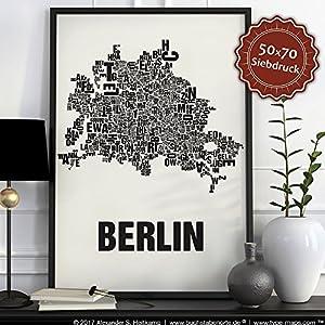 Berlin Buchstabenort Schwarz auf Naturweiß