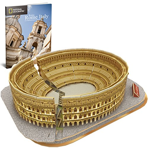 CubicFun National Geographic 3D Puzzle Architecture Model Kit (The Colosseum)